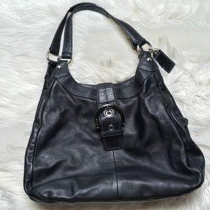 Coach Black F17092 Hobo Soho Shoulder Bag Purse